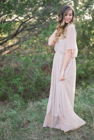 BRIDESMAID BLUSH DRESS