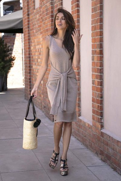 Belt tie dress 5