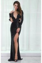 Black sequin gown 56