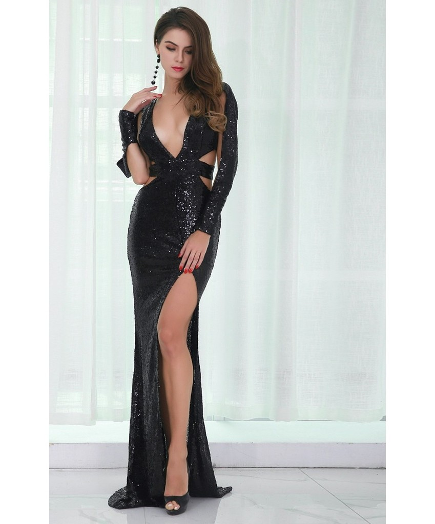 Belluci Sequin Evening Gown