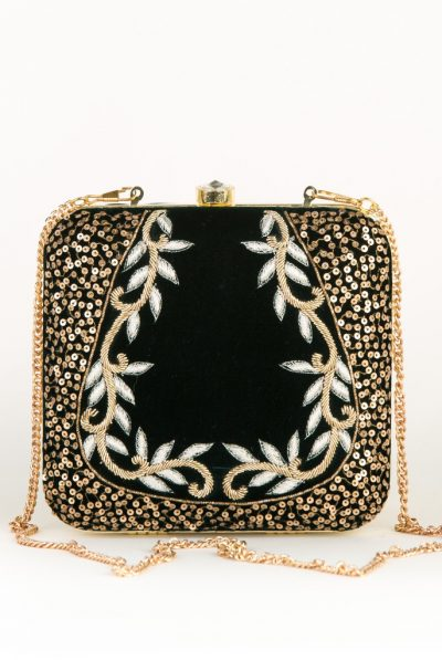 Dark green gold cross bag
