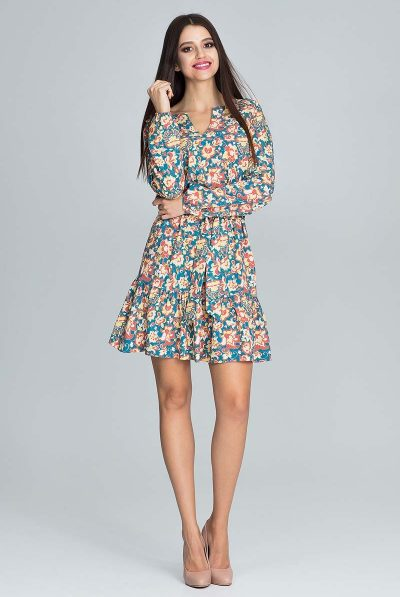 Floral dress short