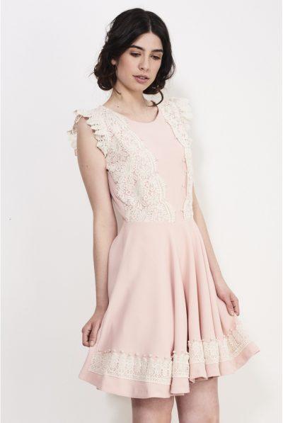 Flying shoulder dress