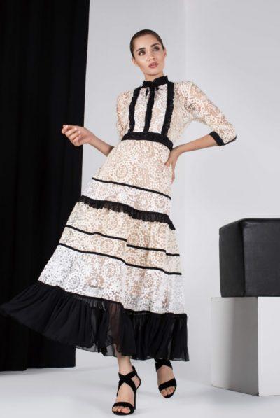 LKace & chiffon dress