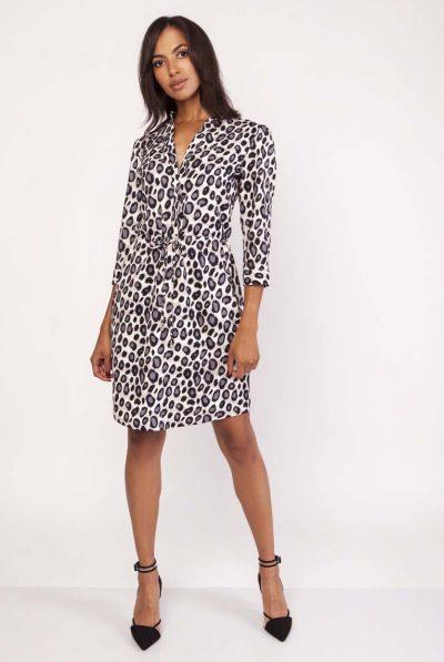 Leoaprd print dress