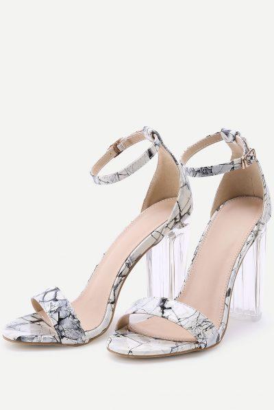 Marble print sandal 69