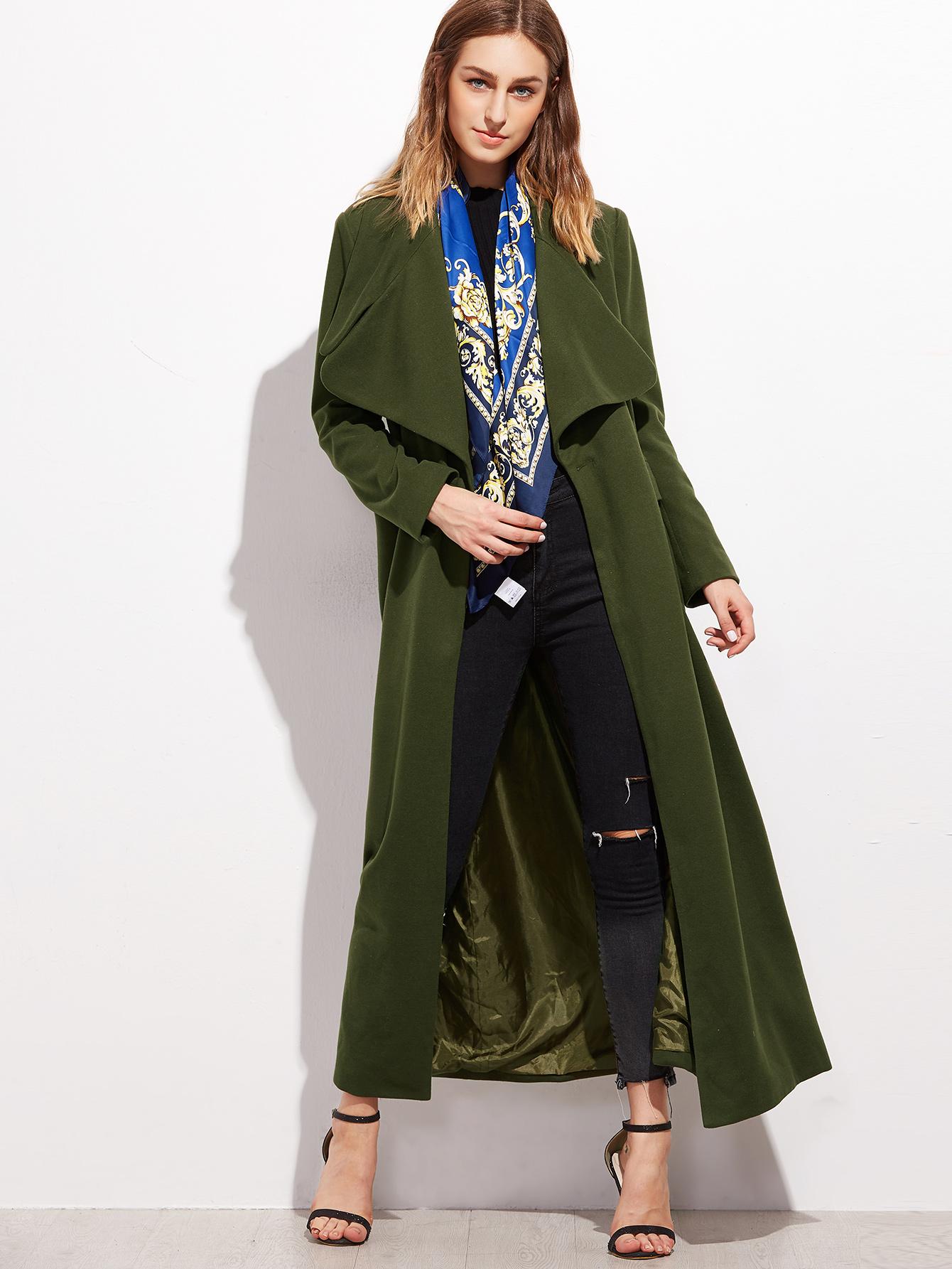 Olive Green Oversized Coat