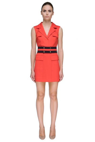 Orange shortcut lattori dress