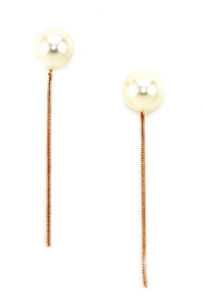 Pearl & Chain earrings