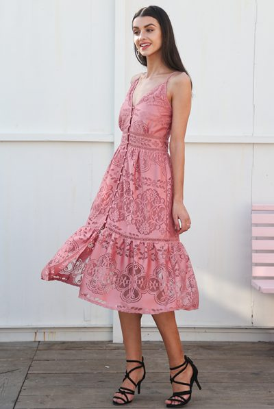 Pink cotton dress