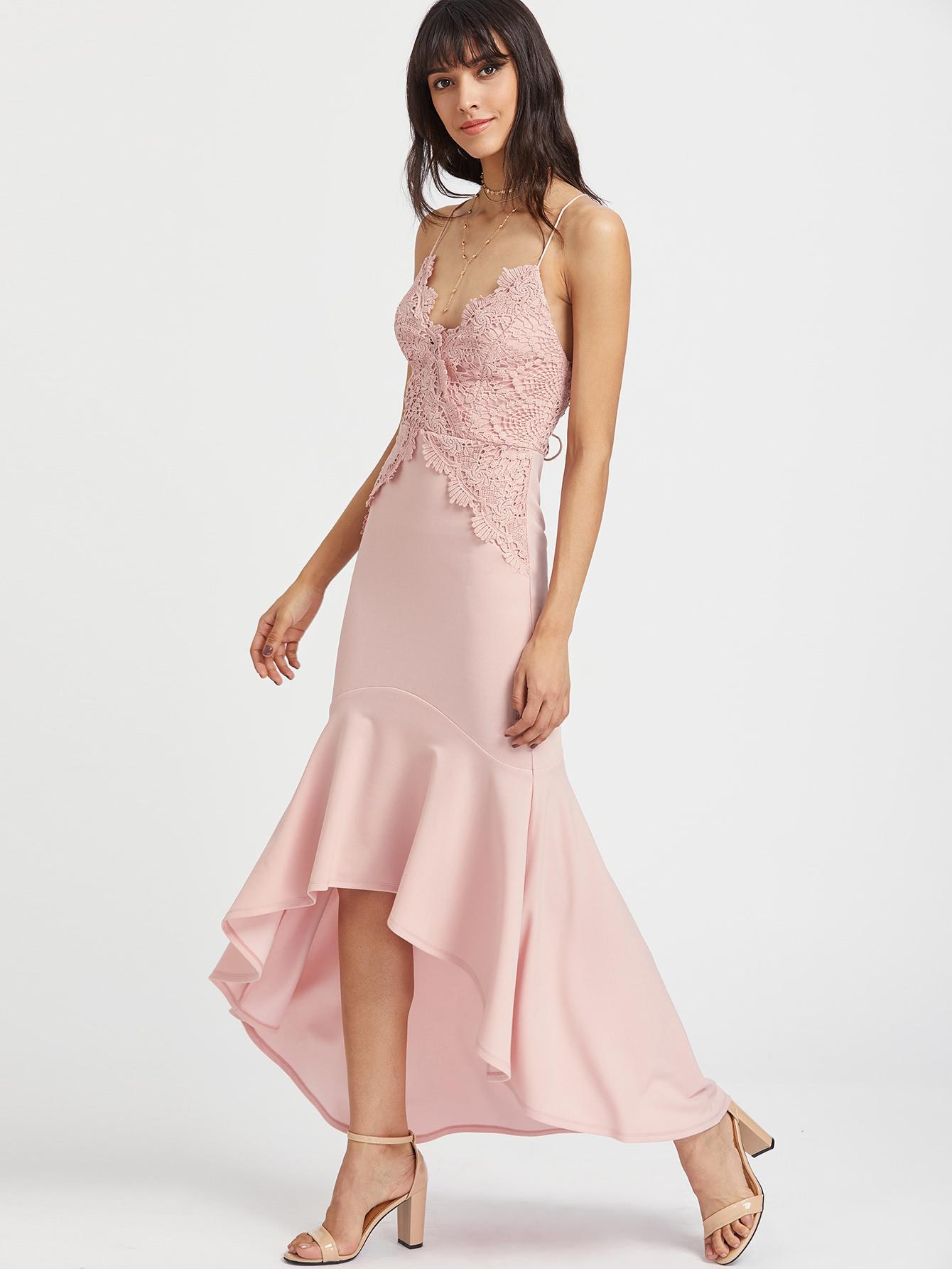 Baby Pink Mermaid Maxi Dress