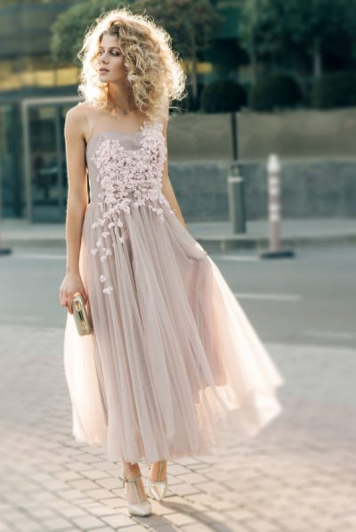 Tulle Dress hand finished 5