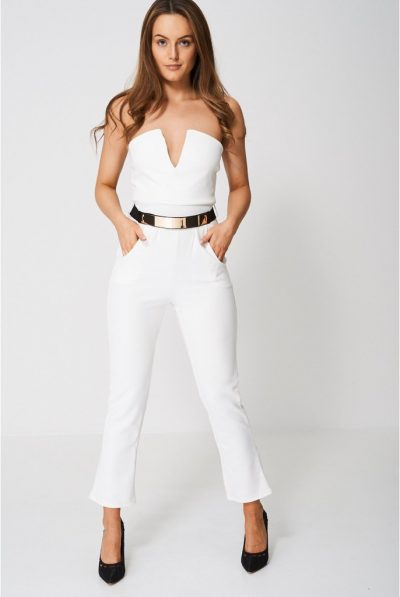 White belted jumpsuit 78