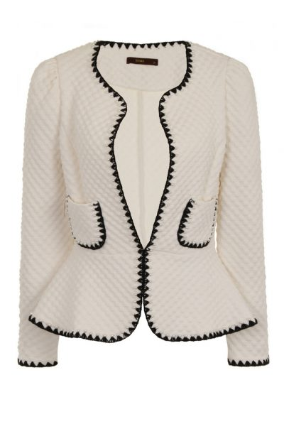 White scallop jacket