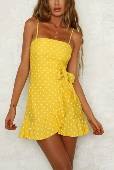 Yellow polka dot dress 56