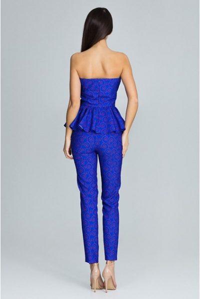 back of blue corset