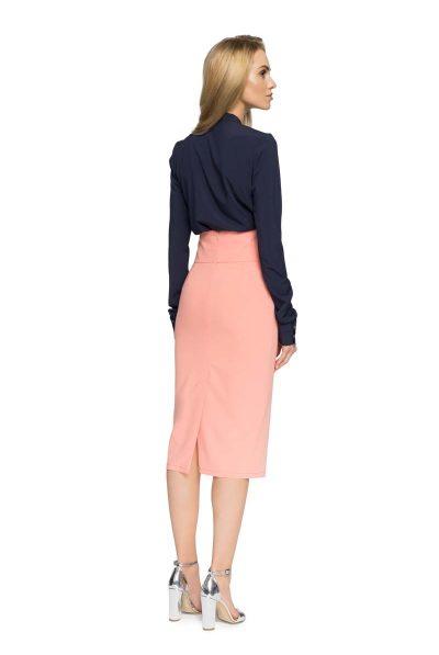 back of high waist skirt