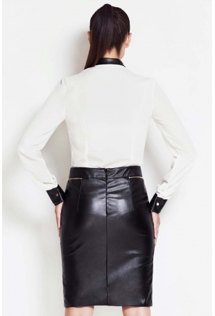 back of leather skirt 678