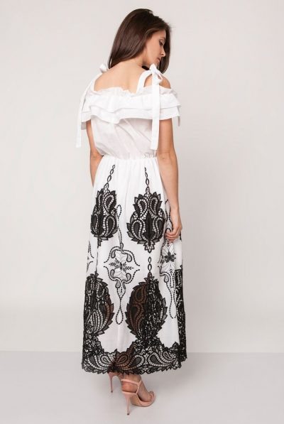 back of monochrome maxi