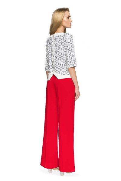 back of red trousers