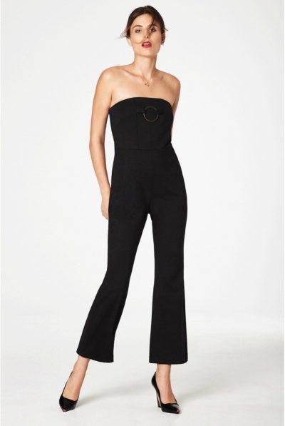 black bandea jumpsuit linday nicholas