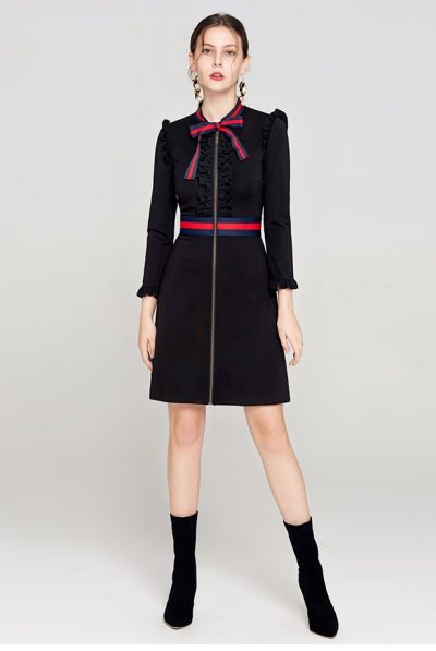 black chanel dress