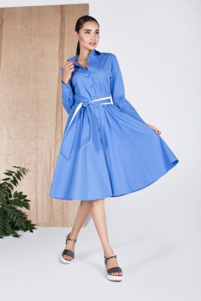 blue shirt dress 78
