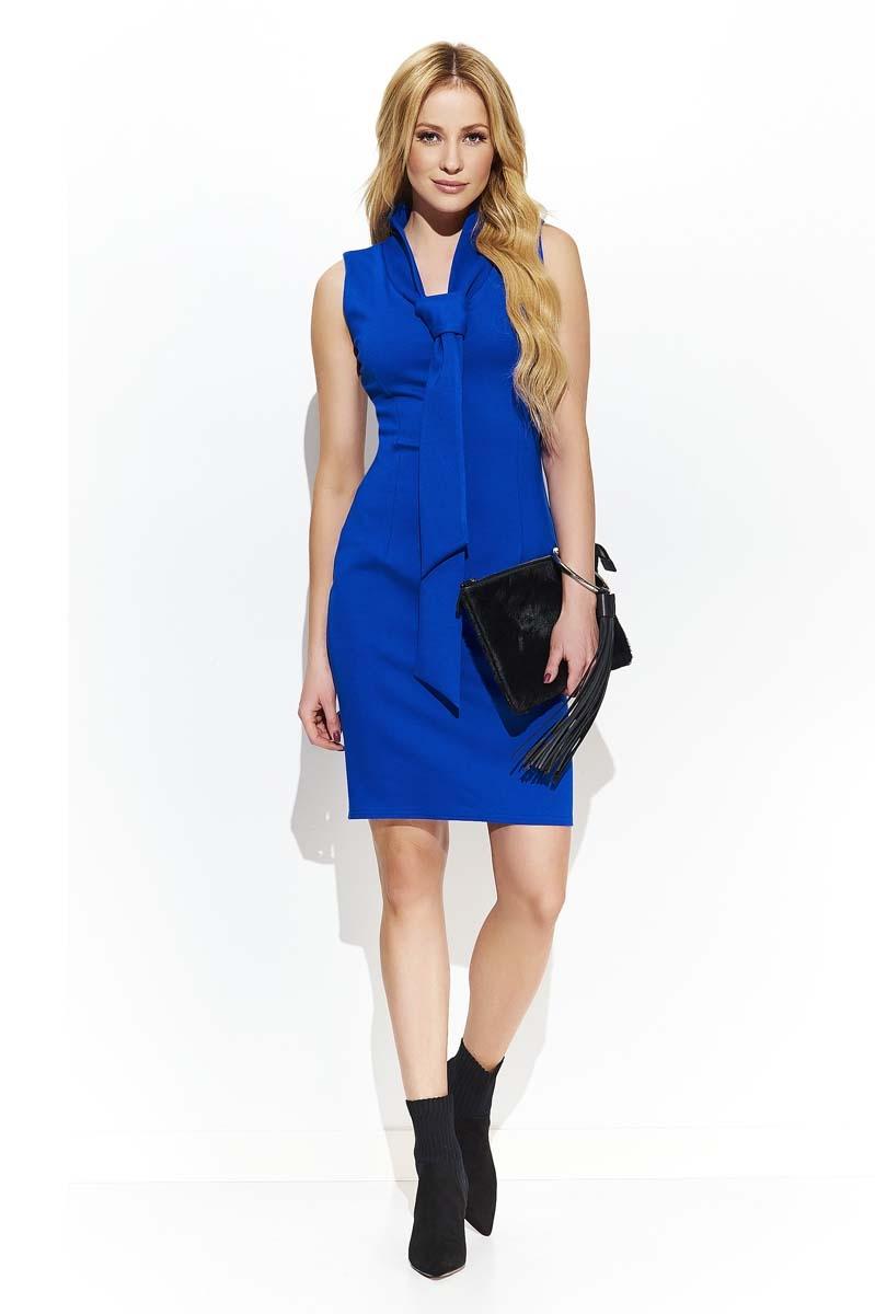 blue tie dress