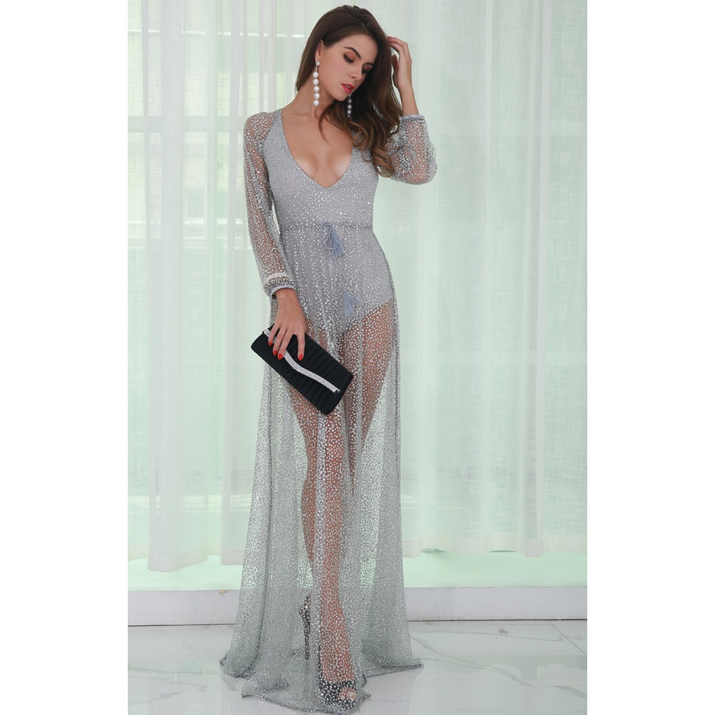 Silver Backless Dress
