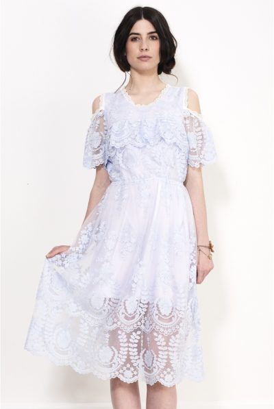 horinzontal midi dress