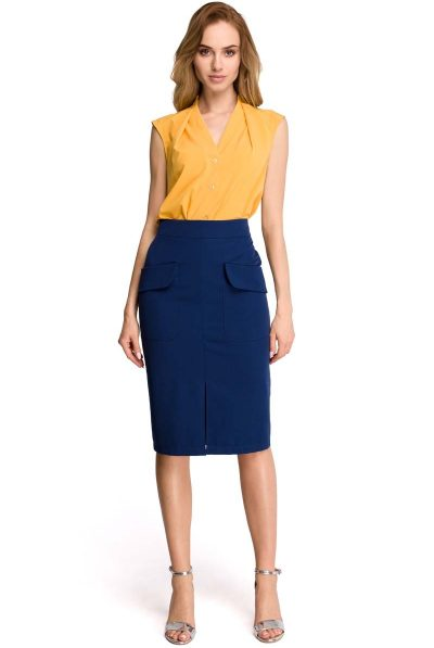 jpg navy skirt and yellow top