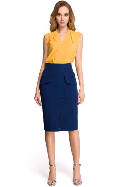 jpg navy skirt and yellow top