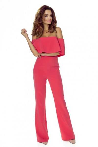 jumpsuit-with-bare-shoulders-coral