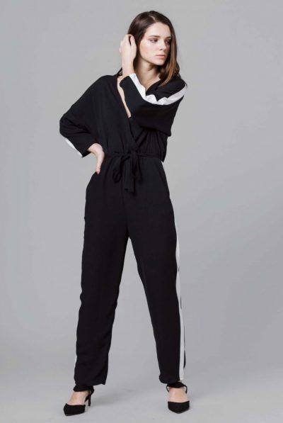 monochrome jumpsuit