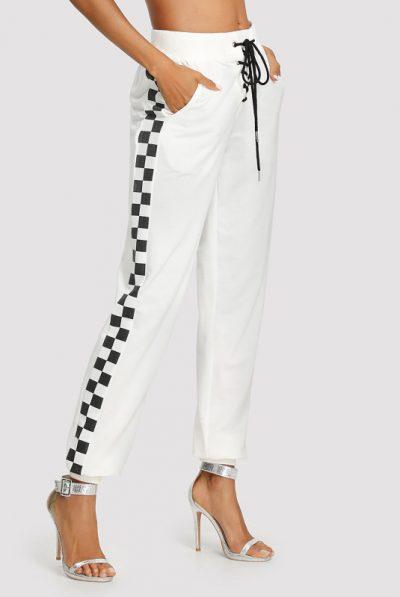 monochrome trousers check