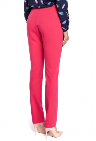 pink trousers back