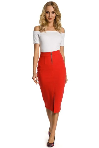 red pencil skirt 688