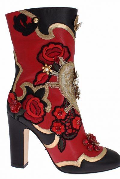 rose boots dolce gabbana