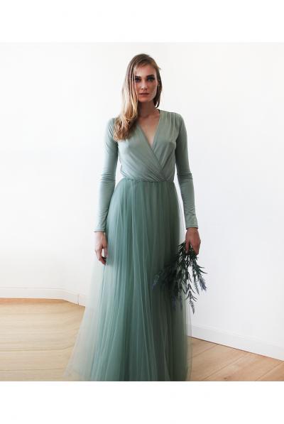 sage green bridesamid