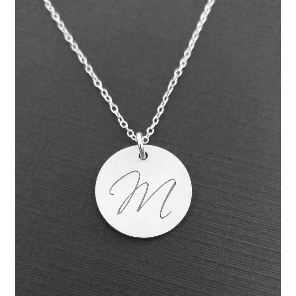 Personalised initial necklace sterling silver aloadofball Images