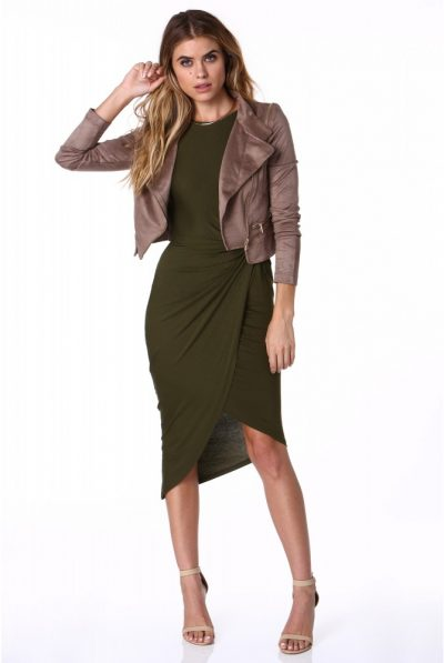 suede jacket dress