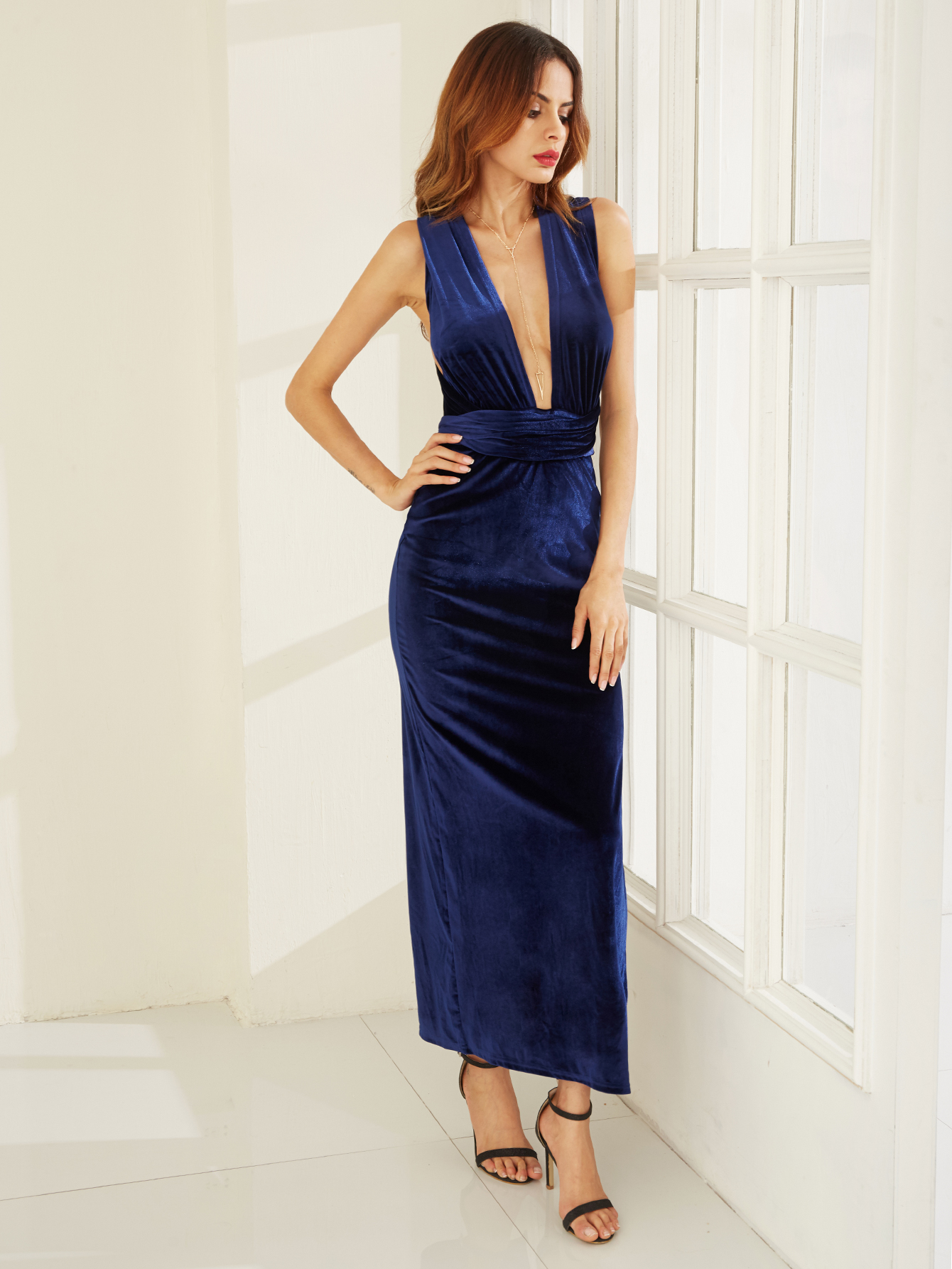 Bella maxi dress midnight blue