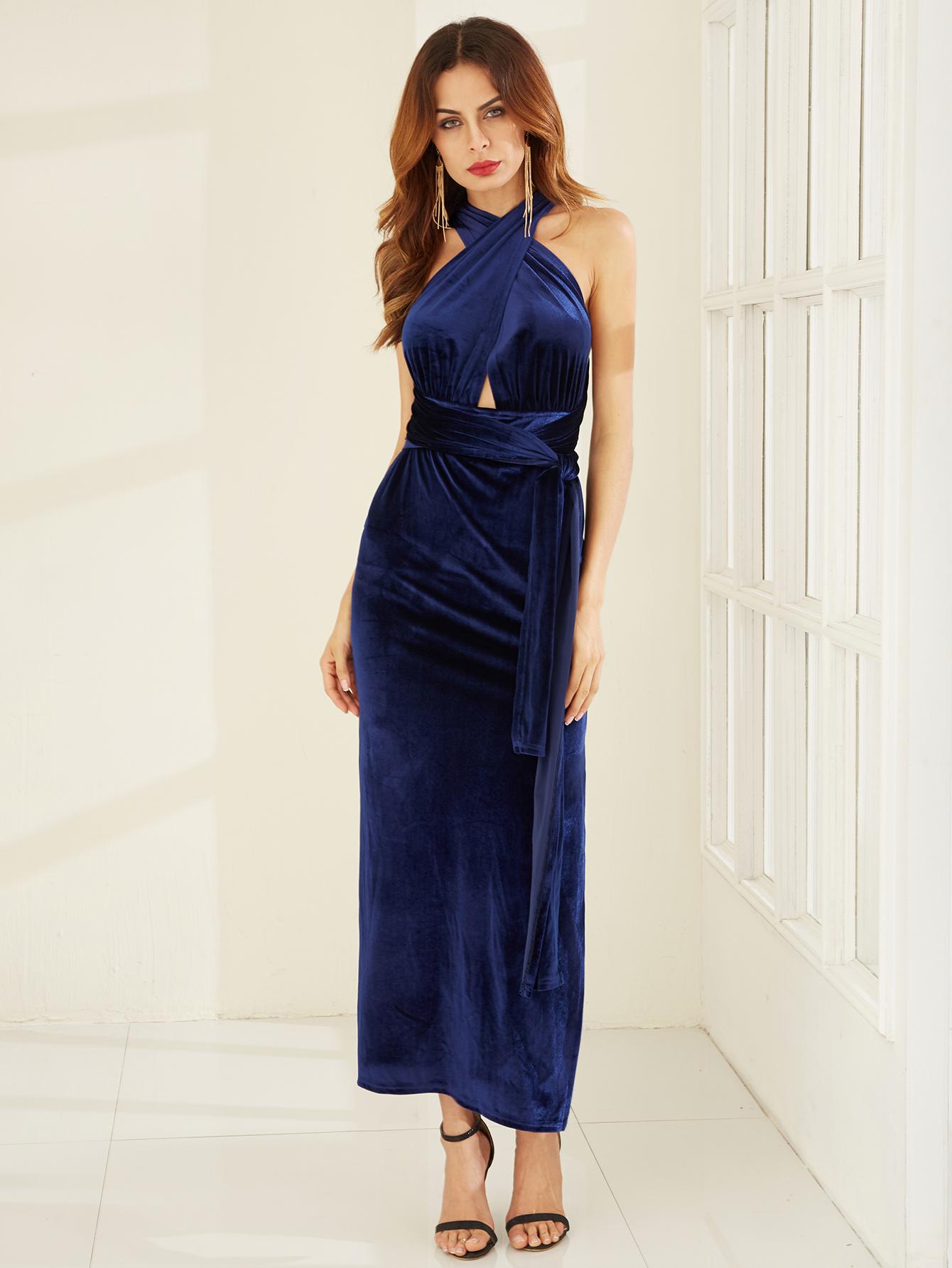 Bella maxi dress midnight blue