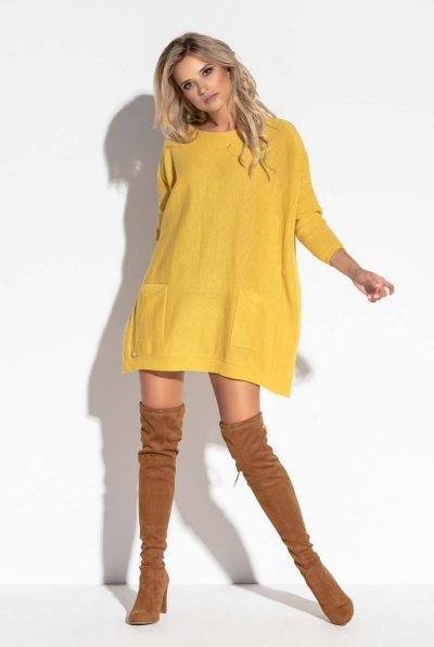 yellow over-szie sweater
