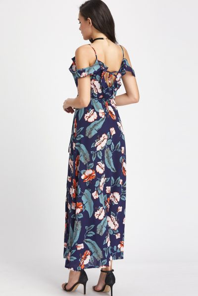 BACK OF FLORAL MAXI 9
