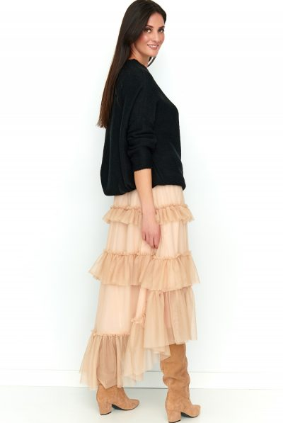 BACK OF TULLE SKIRT