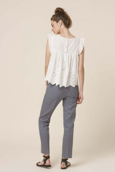 BACK VICHY TROUSERS