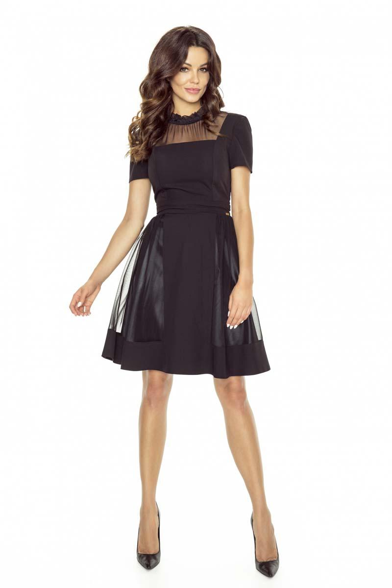 4c9fdd96aa Black Mesh Skater Dress