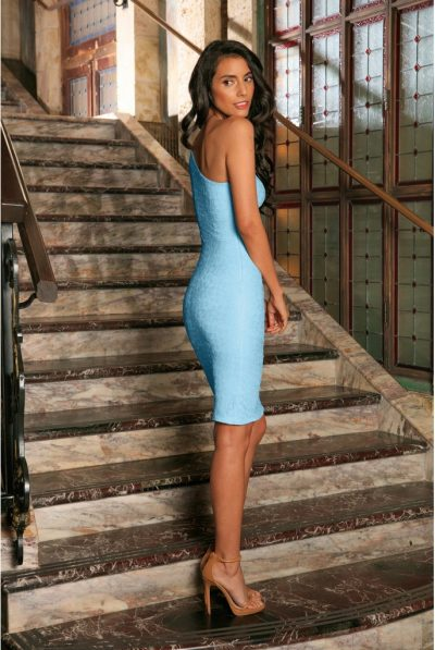 Baby blue bodycon dress 7