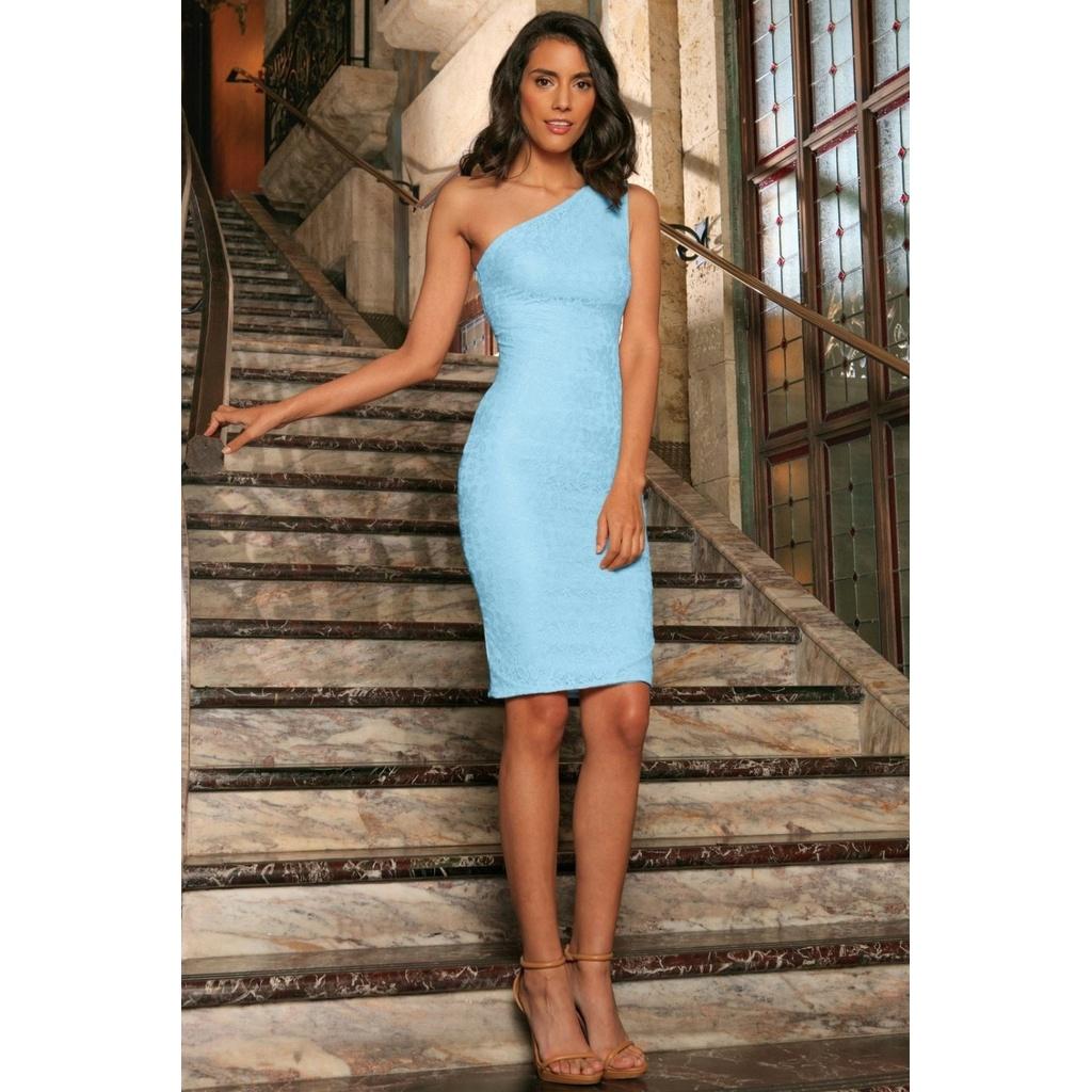 Dress: Pineapple Clothing Baby Blue Bodycon Dress